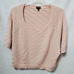 Torrid Cropped Sweater Blush Pink Sz 4X